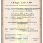 Свидетельство о государственной регистрации НКО
